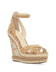Jessica Simpson Ahnika Platform Wedge Sandals Natural