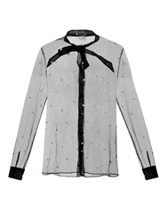 Saint Laurent Polka Dot Tulle Blouse