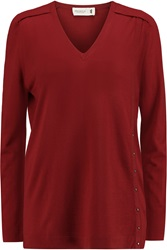 Pringle Embellished Merino Wool Sweater Red