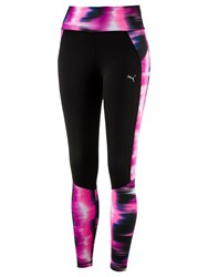 Puma Graphic Running Tights Pink Black