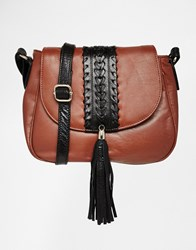 Urbancode Leather Saddle Bag Tan