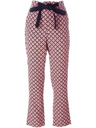 Marni Geometric Print Trousers Pink Purple