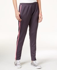 Jessica Simpson The Warm Up Juniors' Track Pants Solid Harvard Grey