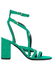 Balmain Strappy Sandals Green
