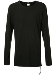Ksubi Long Sleeve T Shirt Men Silk Cotton L Black