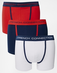 French Connection 3 Pack Trunks Blue