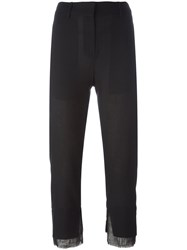 Ann Demeulemeester Cropped Slim Fit Trousers Black