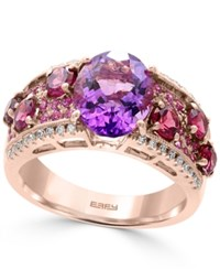Effy Multi Gemstone 4 3 4 Ct. T.W. And Diamond 1 8 Ct. T.W. Statement Ring In 14K Rose Gold