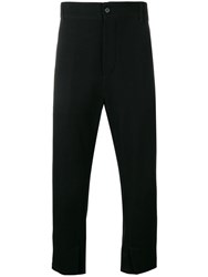 Ann Demeulemeester High Waisted Tapered Trousers Black