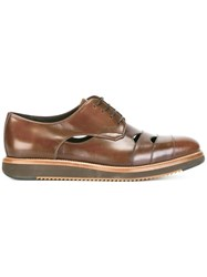 Salvatore Ferragamo Cutwork Derby Shoes Brown