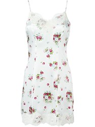 Dondup Floral Print Slip Dress White