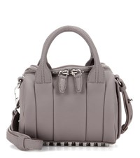 Alexander Wang Mini Rockie Leather Tote Grey