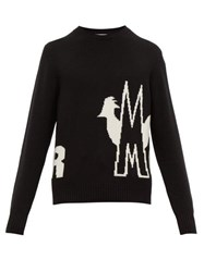 Moncler Wool And Cashmere Blend Sweater Black