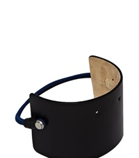 Karmuel Young 65Mm Leather Shoe Cuff Black