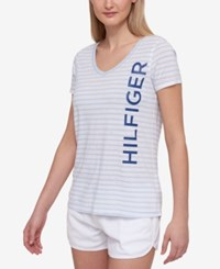 Tommy Hilfiger Sport Striped Logo T Shirt A Macy's Exclusive Style Acid Wash Combo