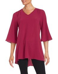 Highline Collective Elbow Length Sleeved Tunic Red