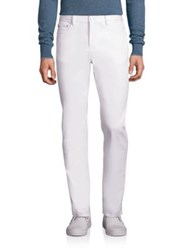 Michael Kors Solid Slim Fit Jeans White