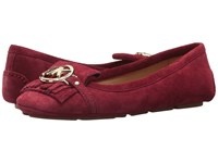 Michael Michael Kors Fulton Kiltie Moc Mulberry Sport Suede Moccasin Shoes Red