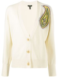 Escada Knitted Embroidered Cardigan 60