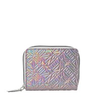 Kenzo Flying Logo Iridescent Squared Wallet