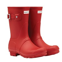 Hunter Women's Original Short Matte Wellington Boots Military Red