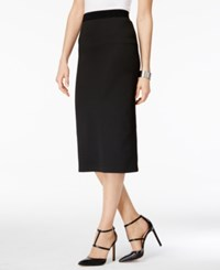Alfani Gingham Midi Pencil Skirt Only At Macy's Black Gingham