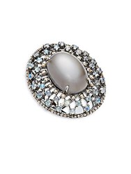 Bavna Moonstone Rainbow Moonstone And Sterling Silver Statement Ring