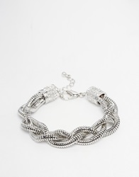 Asos Twisted Chain Bracelet In Silver