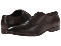 Fitzwell Cap Dark Brown Tequila Leather Men's Dress Flat Shoes