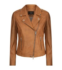 Set The Tyler Leather Jacket Brown