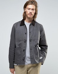 Element Union Chore Worker Jacket Waxed In Off Black Off Black