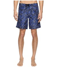 Z Zegna Abstract Camo Boardshorts Blue