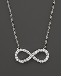 Bloomingdale's Diamond Infinity Pendant Necklace In 14K White Gold .50 Ct. T.W.