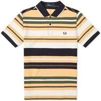 Fred Perry Bold Stripe Polo Yellow