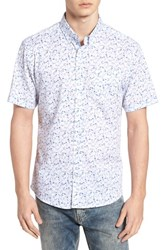 7 Diamonds Mind Gardens Floral Sport Shirt White