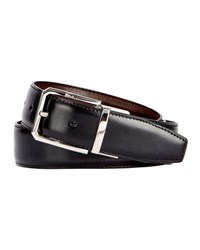 Berluti Versatile 35Mm Reversible Leather Belt Black Knight Tobacco Bis Black Brown