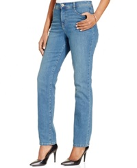 Style And Co. Tummy Control Straight Leg Jeans Faith Wash Only At Macy's