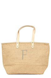 Cathy's Concepts 'Nantucket' Personalized Jute Tote Beige Natural F