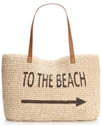 Styleandco. Style And Co. Beach Straw Tote Only At Macy's