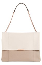 Ted Baker London Phellia Pebbled Leather Shoulder Bag Beige Straw