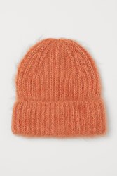Handm H M Wool Blend Hat Orange
