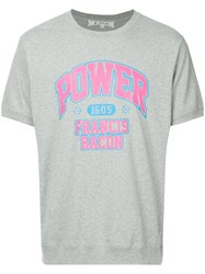 Anrealage Power College T Shirt Grey