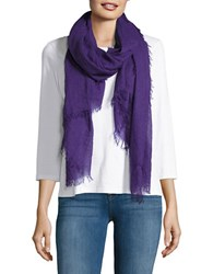 Lord And Taylor Fringed Scarf Purple