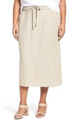 Eileen Fisher Plus Size Women's Organic Linen Midi Skirt