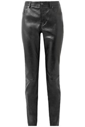 Tom Ford Glossed Stretch Leather Skinny Pants Black