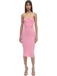 Alex Perry Lee Envers Satin Midi Dress Pink