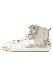 Replay Exter Hightop Trainers Platin Gold
