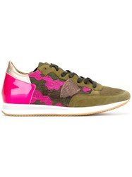 Philippe Model Camouflage Sneakers Green