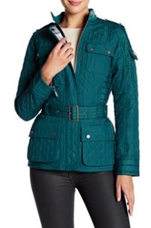 Barbour Mock Neck Quilt Jacket Green