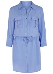 Melissa Odabash Paige Blue Challis Shirt Dress